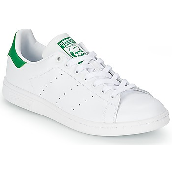 kengät Matalavartiset tennarit adidas Originals STAN SMITH White   Green 8d707c56b7