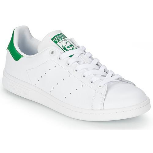 kengät Matalavartiset tennarit adidas Originals STAN SMITH White / Green