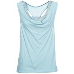 vaatteet Naiset Hihattomat paidat / Hihattomat t-paidat Bench SKINNIE Sininen