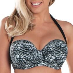 vaatteet Naiset Bikinit Curvy Kate CS4941 BLK/WHI Musta