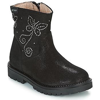 kengät Tytöt Bootsit Garvalin COSMOPOLITAN SERRAJE Black / Hopea