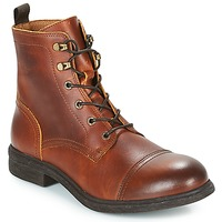 kengät Miehet Bootsit Selected TERREL LEATHER BOOT Cognac