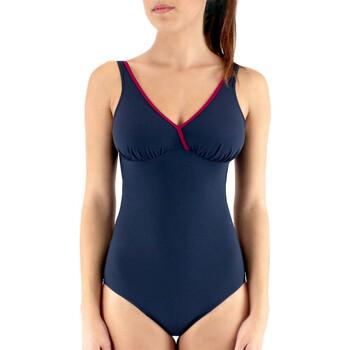 vaatteet Naiset Yksiosainen uimapuku Janine Robin 991645-17 Sininen
