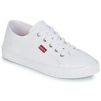kengät Naiset Matalavartiset tennarit Levi's MALIBU BEACH S White
