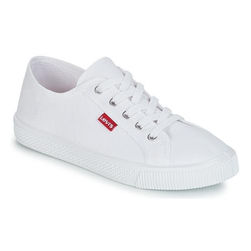 kengät Naiset Matalavartiset tennarit Levi's MALIBU BEACH S Valkoinen