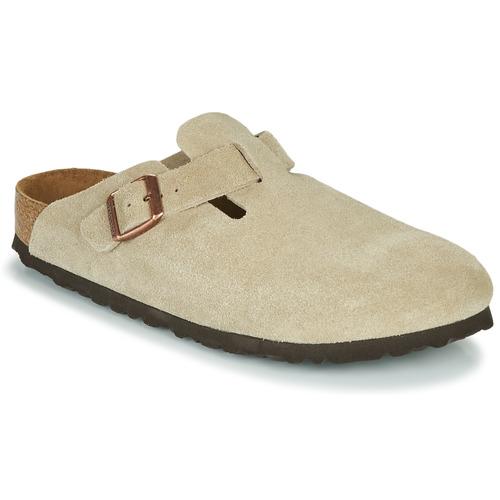 kengät Puukengät Birkenstock BOSTON SFB Taupe