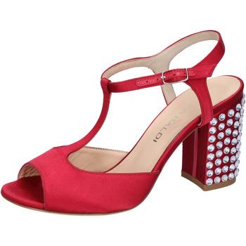 kengät Naiset Sandaalit ja avokkaat Lella Baldi sandali rosso raso strass AH826 Rosso