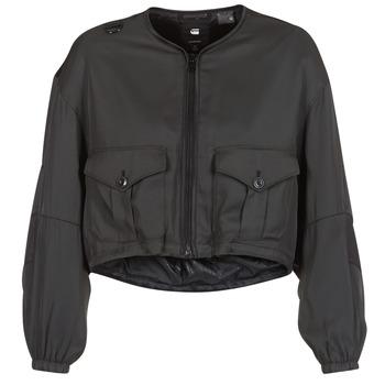vaatteet Naiset Pusakka G-Star Raw RACKAM OS CROPPED BOMBER Black