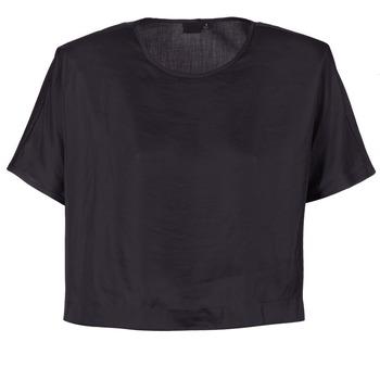 vaatteet Naiset Topit / Puserot G-Star Raw COLLYDE WOVEN TEE Black
