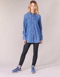 vaatteet Naiset Skinny-farkut G-Star Raw LYNN MID SKINNY Blue / Pimeä