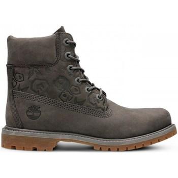 kengät Naiset Korkeavartiset tennarit Timberland 6IN Premium Boot W Harmaat,Ruskeat