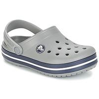 kengät Lapset Puukengät Crocs CROCBAND CLOG K Grey / Laivastonsininen