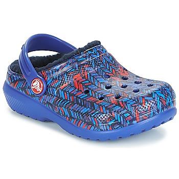 kengät Lapset Puukengät Crocs CLASSIC LINED GRAPHIC CLOG K Blue