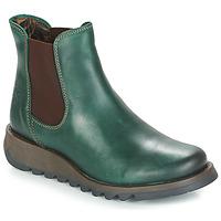 kengät Naiset Bootsit Fly London SALV Green