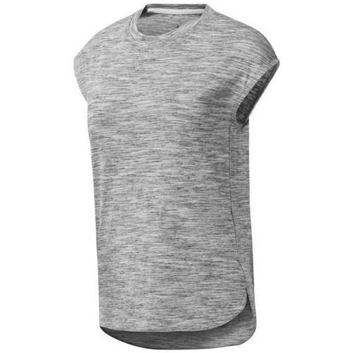 vaatteet Naiset Lyhythihainen t-paita Reebok Sport EL Marble Harmaat