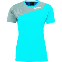 vaatteet Naiset Lyhythihainen t-paita Kempa Maillot femme  Core 2.0 bleu flash/gris