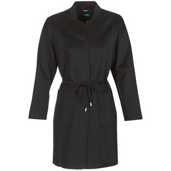 vaatteet Naiset Paksu takki Benetton MARBELLO Black