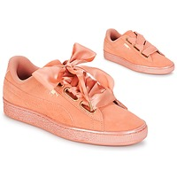 kengät Naiset Matalavartiset tennarit Puma WN SUEDE HEART SATIN.DUSTY Orange