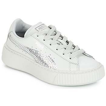 kengät Tytöt Matalavartiset tennarit Puma G PS B PLATFORM BLING.GRAY Harmaa