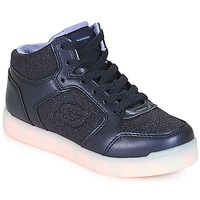 kengät Tytöt Korkeavartiset tennarit Skechers ENERGY LIGHTS Sininen