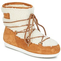kengät Naiset Talvisaappaat Moon Boot FAR SIDE LOW SHEARLING Cognac / White