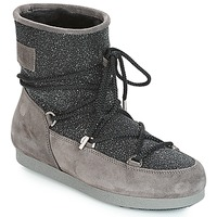 kengät Naiset Talvisaappaat Moon Boot FAR SIDE LOW SUEDE GLITTER Black / Grey