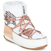 kengät Naiset Talvisaappaat Moon Boot PEACE & LOVE WP White / Pink / Kulta