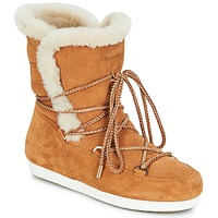 kengät Naiset Talvisaappaat Moon Boot FAR SIDE HIGH SHEARLING Cognac / White