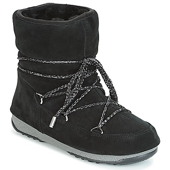 kengät Naiset Talvisaappaat Moon Boot LOW SUEDE WP Black
