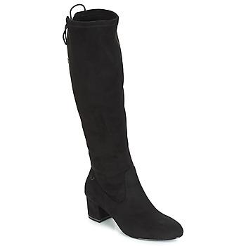 kengät Naiset Ylipolvensaappaat Tamaris PEDAS Black