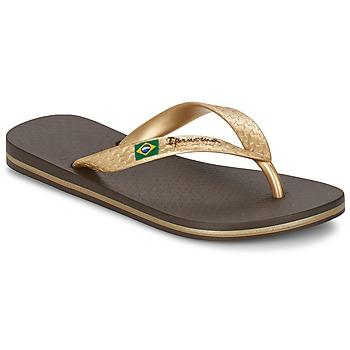 kengät Naiset Varvassandaalit Ipanema CLASSICA BRASIL II Brown / Gold
