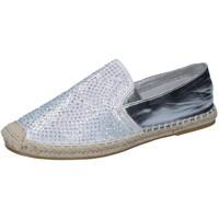 kengät Naiset Mokkasiinit Sara Lopez espadrillas argento tessuto strass BY241 Argento