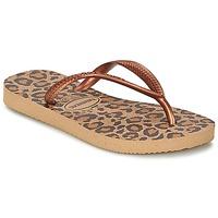 kengät Tytöt Varvassandaalit Havaianas SLIM ANIMALS BRONZE
