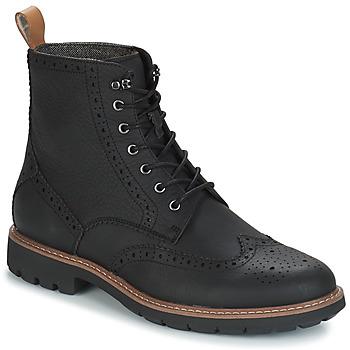 kengät Miehet Bootsit Clarks BATCOMBE Black