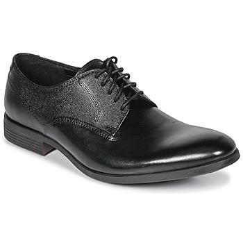 kengät Miehet Derby-kengät Clarks GILMORE Musta / Nahka