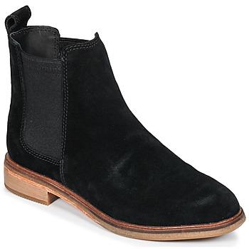kengät Naiset Bootsit Clarks CLARKDALE Musta