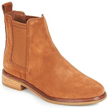 kengät Naiset Bootsit Clarks CLARKDALE Camel