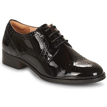 kengät Naiset Derby-kengät Clarks NETLEY Musta / Tummanvihreä