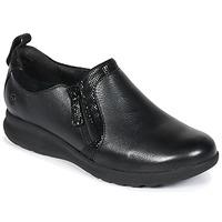 kengät Naiset Derby-kengät Clarks Un Adorn Zip Musta