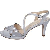 kengät Naiset Sandaalit ja avokkaat Olga Rubini sandali grigio vernice camoscio BY358 Grigio