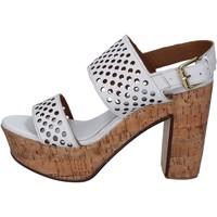 kengät Naiset Sandaalit ja avokkaat Shocks sandali bianco pelle BY394 Bianco