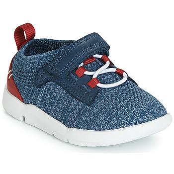 kengät Pojat Matalavartiset tennarit Clarks Tri Hero Blue