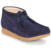 kengät Lapset Bootsit Clarks Wallabee Bt Sininen / Mokka