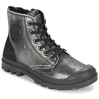 kengät Naiset Bootsit Palladium PAMPA HI Black / Hopea