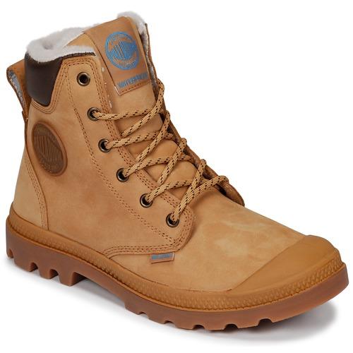 kengät Bootsit Palladium PAMPA SPORT CUFF WPS Yellow / Brown