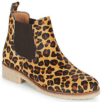 kengät Naiset Bootsit Bensimon BOOTS CREPE Leopardi