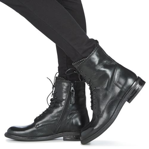 Mjus Pal Lace Black - Ilmainen Toimitus- Kengät Bootsit Naiset 149