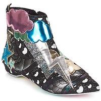 kengät Naiset Bootsit Irregular Choice Electric boots Musta / Hopea