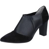 kengät Naiset Nilkkurit Le Marrine Nilkkasaappaat BY732 Musta