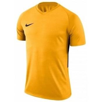 vaatteet Miehet Lyhythihainen t-paita Nike Dry Tiempo Premier Keltaiset